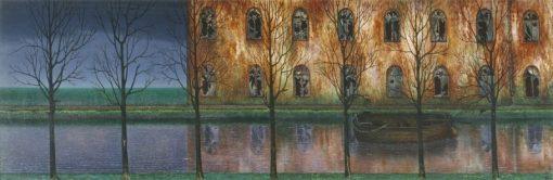 The Canal   William Degouve de Nuncques   Oil Painting