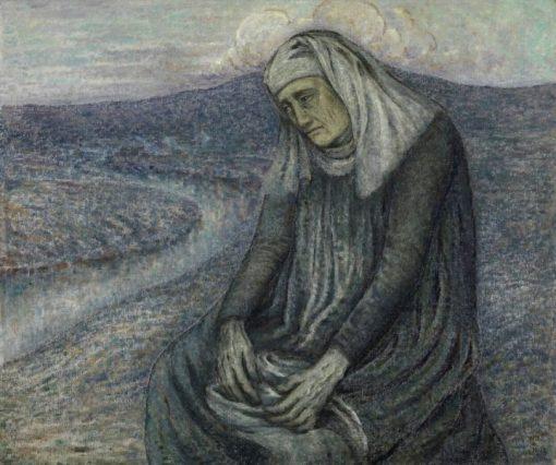 The Madonna with her Memories | William Degouve de Nuncques | Oil Painting