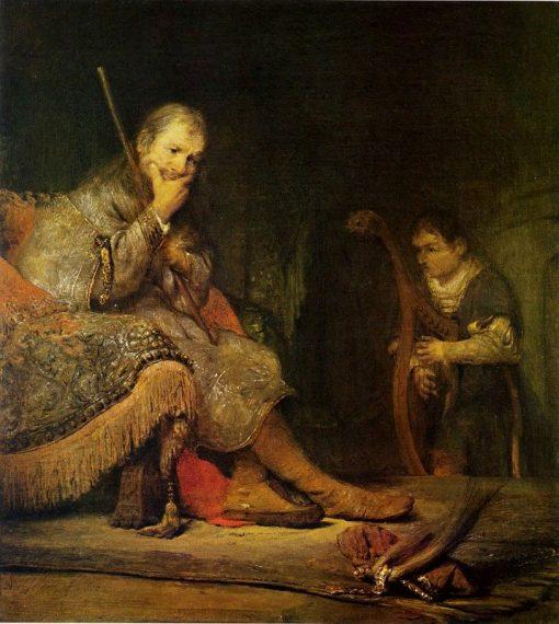 David Playing the Harp to Saul | Aert de Gelder | Oil Painting