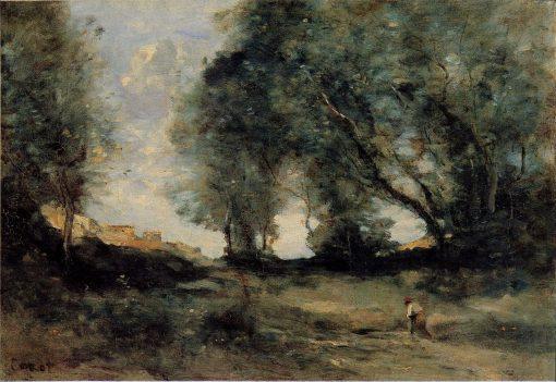 Landscape   Jean Baptiste Camille Corot   Oil Painting