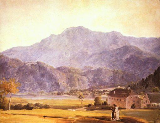 Landscape with Figure | Johann Georg von Dillis | Oil Painting