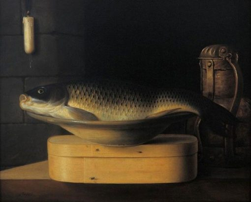 Still Life with Large Carp | SEbastien Stoskopff | Oil Painting