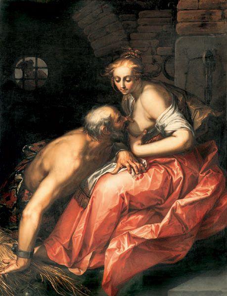 Cimon and Pero | Abraham Bloemaert | Oil Painting