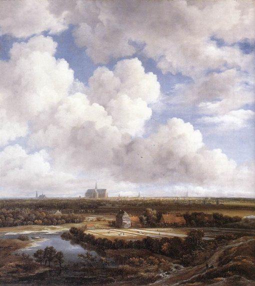 View of Haarlem with Bleaching Grounds | Jacob van Ruisdael | Oil Painting