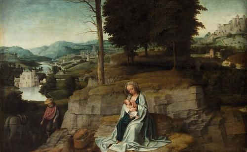 The Rest on the Flight into Egypt | Adriaen Isenbrandt | Oil Painting