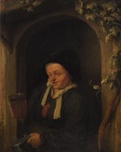 Female Figure with Tankard | Adriaen van Ostade | Oil Painting