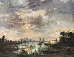 Fishing at Moonlight | Aert van der Neer | Oil Painting