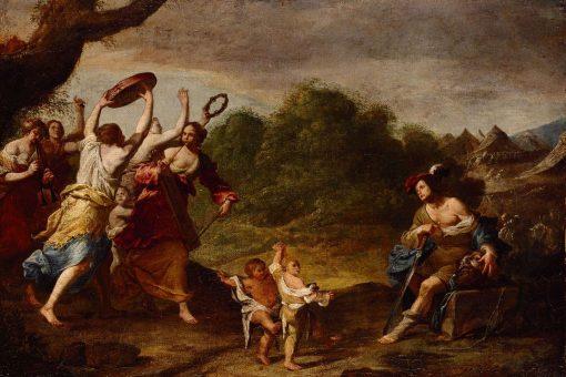 David's Triumph over Goliath | Agostino Beltrano | Oil Painting