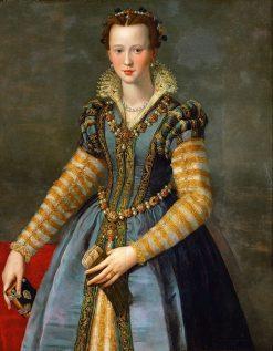 Portrait of Maria de Medici(also known as 'Portrait of Eleonora di Garzia di Toledo') | Alessandro Allori | Oil Painting