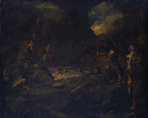 Mahl der Einsiedler in einer Höhle | Alessandro Magnasco | Oil Painting