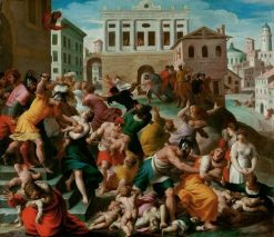 Rape of the Sabine Women | Alessandro Turchi | Oil Painting