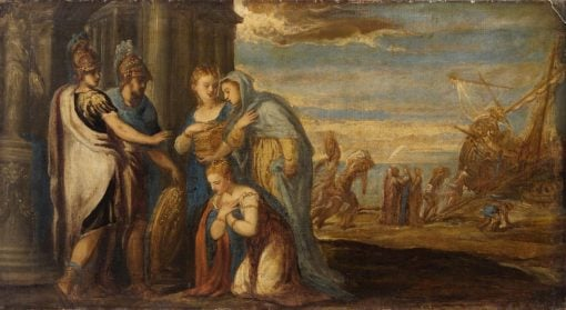Aeneas takes Leave of Dido | Andrea Schiavone | Oil Painting