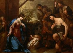 Adoration of the Christ Child | Andrea Vaccaro | Oil Painting