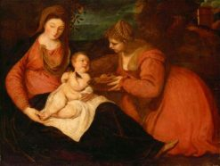 Madonna and Child with Saint Dorothea   Anthony van Dyck   Oil Painting