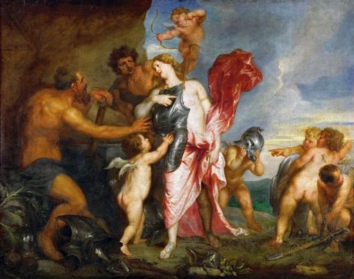 Thetis Receives from Hephaistos the Weapons for Achilles | Anthony van Dyck | Oil Painting