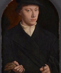 Young Man Holding Gloves | Bartholomaeus Bruyn the Elder | Oil Painting