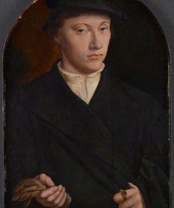 Young Man Holding Gloves | Bartholomaeus Bruyn the Elder | Oil Painting