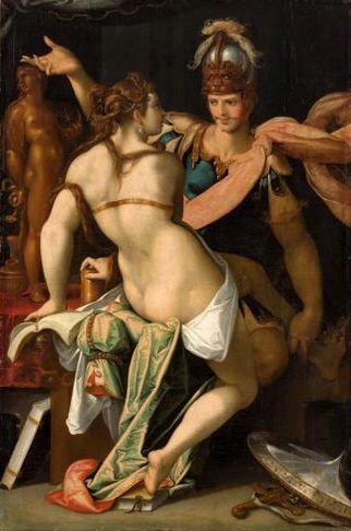 Ulysees and Circe   Bartholomaeus Spranger   Oil Painting