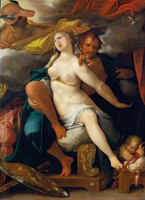 Venus and Mars Warned by Mercury | Bartholomaeus Spranger | Oil Painting