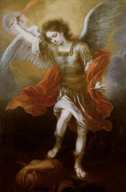 The Archangel Michael | BartolomE Esteban Murillo | Oil Painting