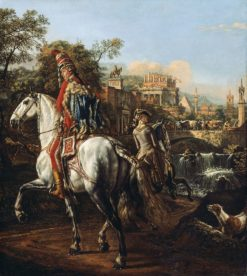 Portrait of a Hussars Officer | Bernardo Bellotto | Oil Painting