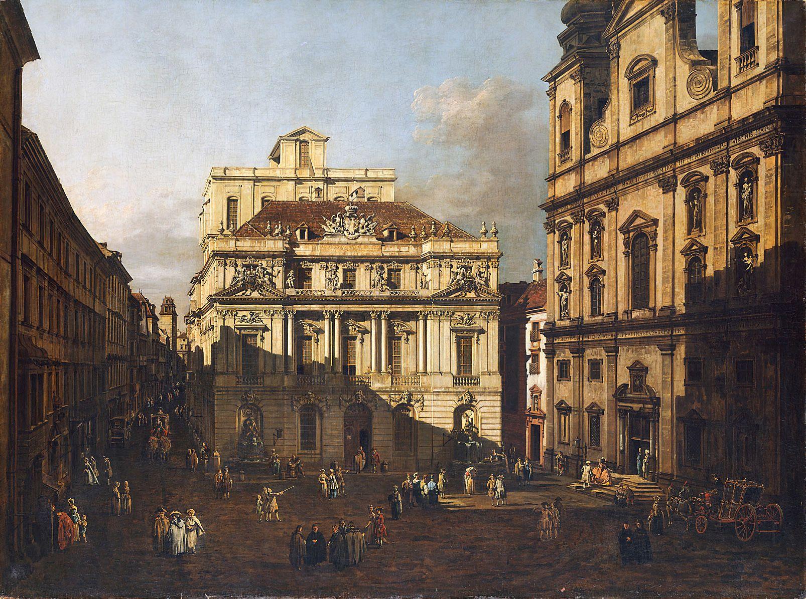 University Platz in Vienna   Bernardo Bellotto   Oil Painting
