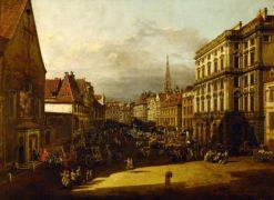 The Flour Market in Vienna | Bernardo Bellotto | Oil Painting