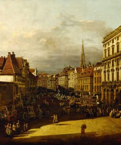 The Flour Market in Vienna | Bernardo Bellotto | Oil Painting