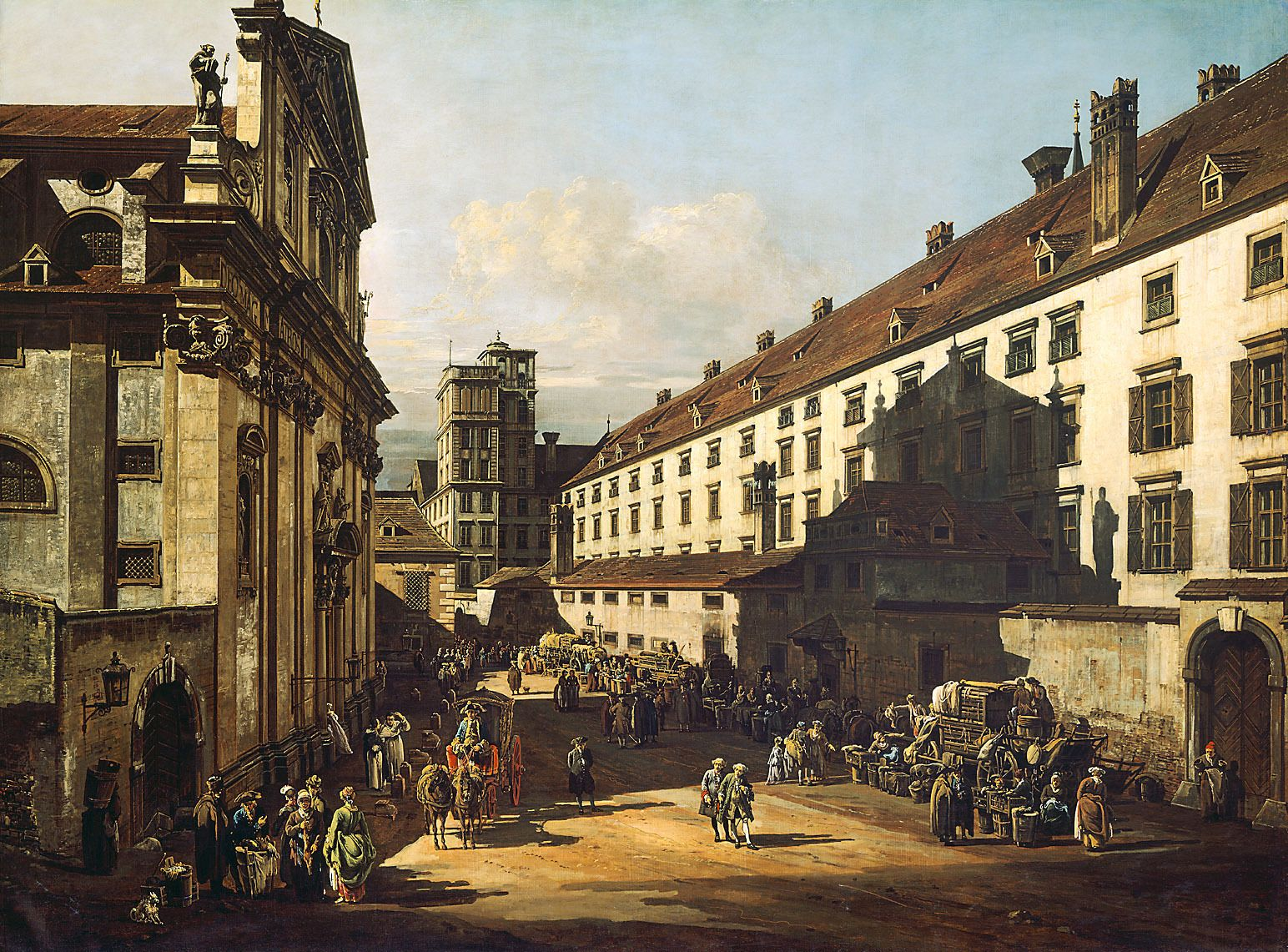 The Dominikanerkirche in Vienna | Bernardo Bellotto | Oil Painting