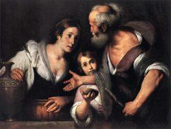 The Prophet Elijah and the Widow of Sarepta | Bernardo Strozzi | Oil Painting