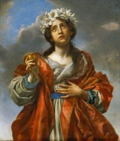 Saint with Golden Heart | Carlo Dolci | Oil Painting