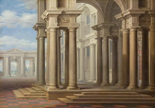 Hoher Saulenbau | Dirck van Delen | Oil Painting