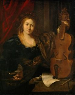 Woman with a Viola | Ferdinand Bol | Oil Painting