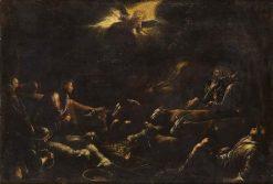Verkundigung an die Hirten | Francesco Bassano the Younger | Oil Painting