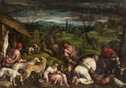Feast in Paradise   Francesco Bassano the Younger   Oil Painting