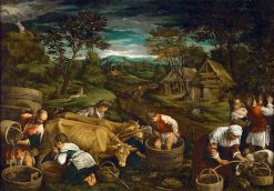 Harvest | Francesco Bassano the Younger | Oil Painting