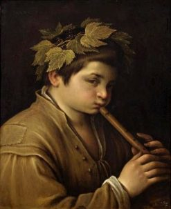 Bacchus with a Flute   Francesco Bassano the Younger   Oil Painting