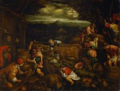 Preparing for the Arc | Francesco Bassano the Younger | Oil Painting