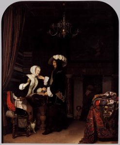 The Cloth Shop | Frans van Mieris the Elder | Oil Painting