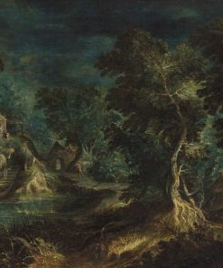 Fantastic Landscape with Shepherds and Trees | Frederik van Valckenborch | Oil Painting