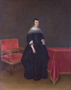 Portrait of Hermana von der Cruysse | Gerard ter Borch | Oil Painting