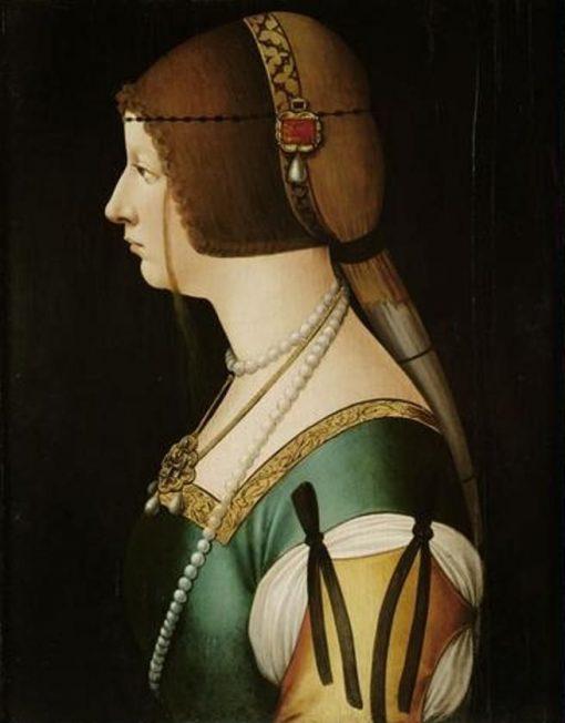 Bianca Maria Sforza | Giovanni Ambrogio de Predis | Oil Painting