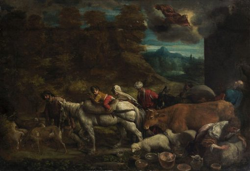 Departure of Abraham into the Promised Land | Girolamo Bassano | Oil Painting