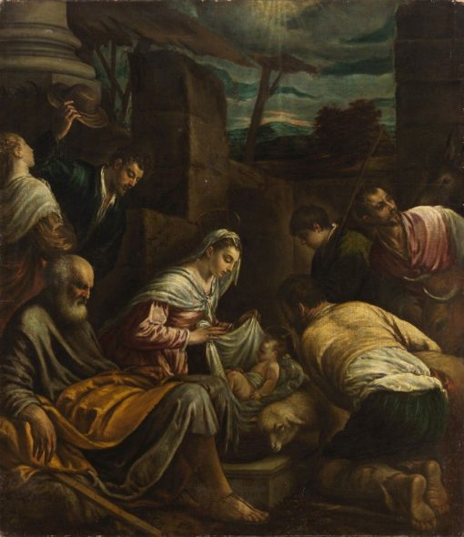 Adoration of the Shepherds | Girolamo Bassano | Oil Painting