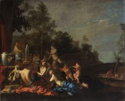 Musical Party with Nymphs and Putti | Giulio Carpioni | Oil Painting