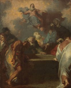 Ascension of the Virgin Mary   Giuseppe Bazzani   Oil Painting