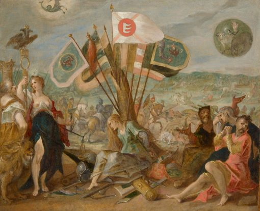 Allegory of the Battle of Gorosslo | Hans von Aachen | Oil Painting