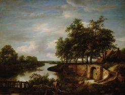 Landscape by Water | Jacob van Ruisdael | Oil Painting