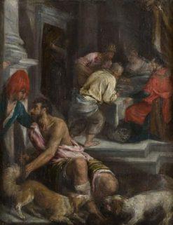 Gleichnis vom reichen Mann und dem armen Lazarus (The Raising of Lazarus) | Jacopo Bassano | Oil Painting