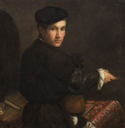 Young Man with a Mandolin | Jacopo Bassano | Oil Painting